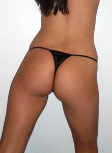 A Horny Alex Loves To Show Off Her Tight Teen Ass In A Tiny Black Thong - Picture 11