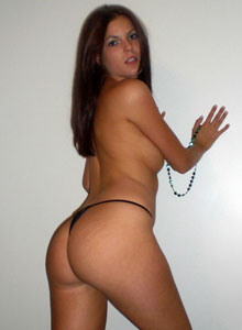 A Horny Alex Loves To Show Off Her Tight Teen Ass In A Tiny Black Thong - Picture 12