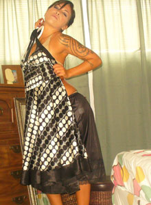 Watch As Deja Dresses Up In A Sexy Classy Dress - Picture 1