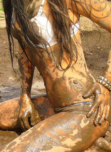 Watch As Deja Rolls Around In The Mud In Her Bra And Panties - Picture 6