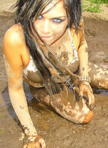 Watch As Deja Rolls Around In The Mud In Her Bra And Panties - Picture 10