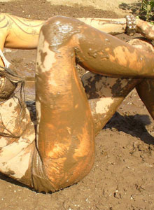 Watch As Deja Rolls Around In The Mud In Her Bra And Panties - Picture 12