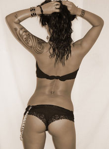 Deja Shows Off Her Amazing Tight Teen Ass In Black Lace Panties - Picture 4