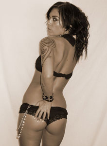 Deja Shows Off Her Amazing Tight Teen Ass In Black Lace Panties - Picture 5