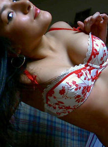 Gina Sticks Her Hand Down Her Panties To Rub Her Pussy - Picture 8