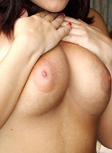 Busty Girl Next Door Tease Roxy Shows Off Her Perky Tits Outdoors - Picture 9