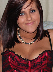 19 Year Old Roxy Strips Out Of Her Red Corset And Shows Off Her Teenage Tits - Picture 1
