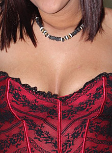 19 Year Old Roxy Strips Out Of Her Red Corset And Shows Off Her Teenage Tits - Picture 8