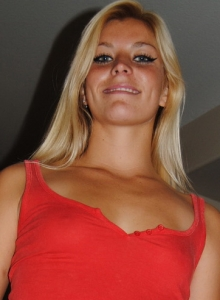 Blonde Girl Next Door Shay Stripping Out Of Her Sexy Red Lingerie - Picture 3